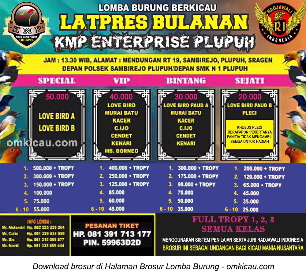 Brosur Latpres Bulanan KMP Enterprise Plupuh, Sragen, 16 Desember 2916