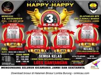 Brosur Latpres Burung Berkicau 3rd Anniversary KPKJ, Jambi, 18 Desember 2016