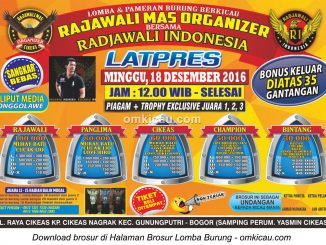 Brosur Latpres Rajawali Mas Organizer bersama Radjawali Indonesia, Bogor, 18 Desember 2016