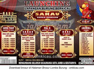 Brosur Lomba Burung Berkicau Launching Lapangan Sakau, Jambi, 7 Desember 2016