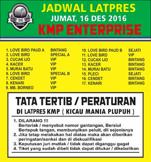 Jadwal Latpres KMP Enterprise Plupuh