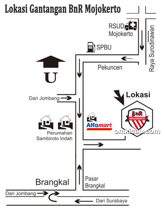 Lokasi Gantangan BnR Mojokerto