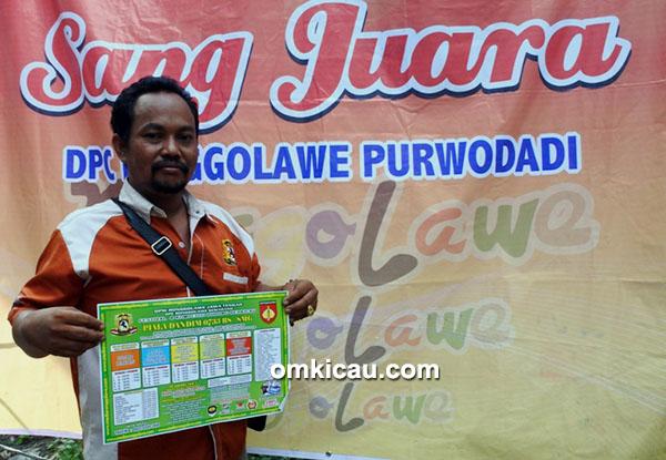 Om Sokib, ketua Ronggolawe DPC Purwodadi