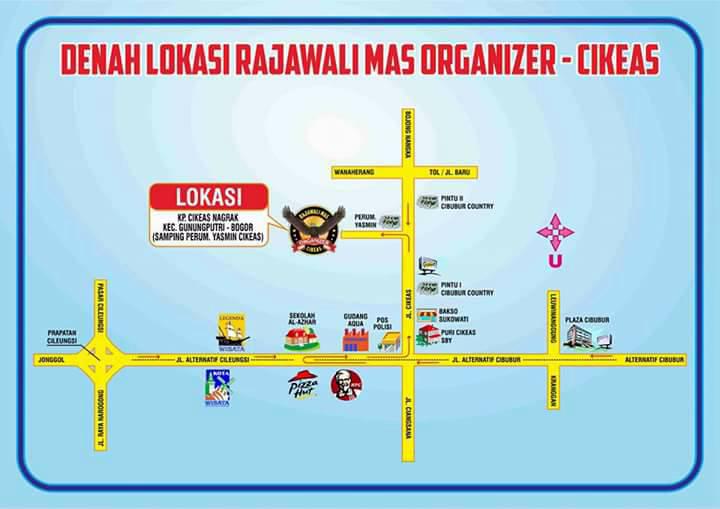 Denah lokasi Rajawali Mas Organizer Cikeas