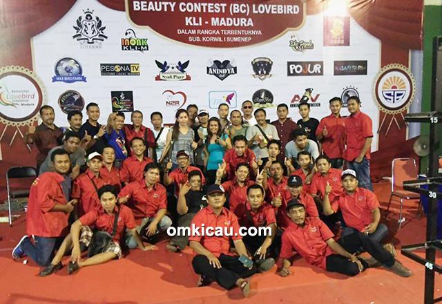 Panitia lovebird beauty contest KLI Madura