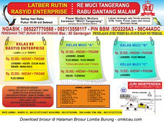 Brosur Latber Rutin RE Muci Tangerang - Edisi Rabu Gantang Malam
