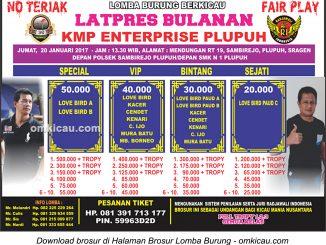 Brosur Latpres Bulanan KMP Enterprise Plupuh, Sragen, 20 Januari 2017