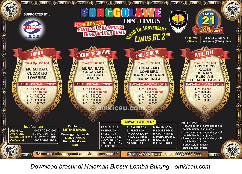 Brosur Latpres Ronggolawe DPC Limus, Bogor, 21 Januari 2017