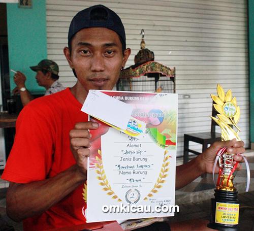 Lovebird Dewi milik Om Adhi (Aiko SF)