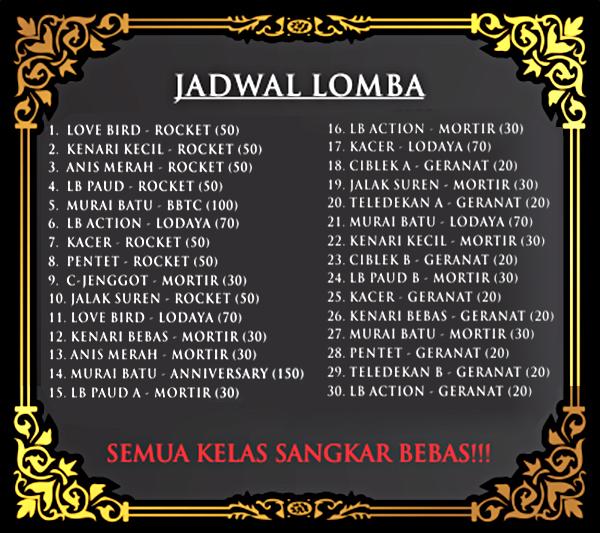 Jadwal Lomba BBTC