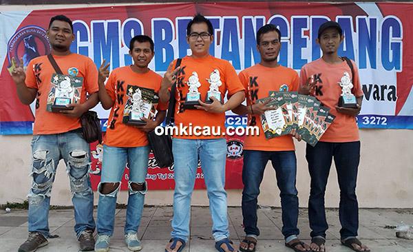 KKLB Bandung mendominasi kelas lovebird