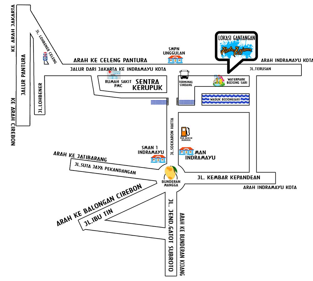 Lokasi Lomba Piala Arjuna Indramayu