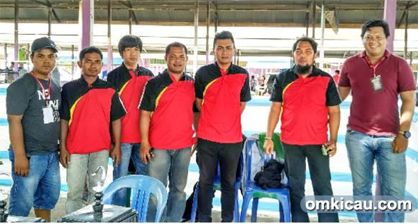 Panitia Panser Team bersama tim juri