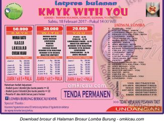 Brosur Latpres Bulanan KMYK With You, Jogja, 18 Februari 2017