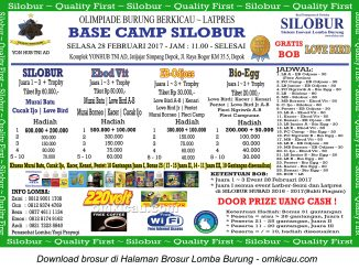 Brosur Latpres Burung Berkicau Base Camp Silobur, Depok, 28 Februari 2017