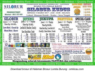 Brosur Latpres Road to Piala Ratu - Silobur Kudus, 5 Maret 2017
