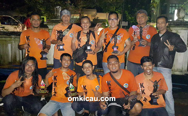KKLB Bandung kembali mendominasi kelas lovebird