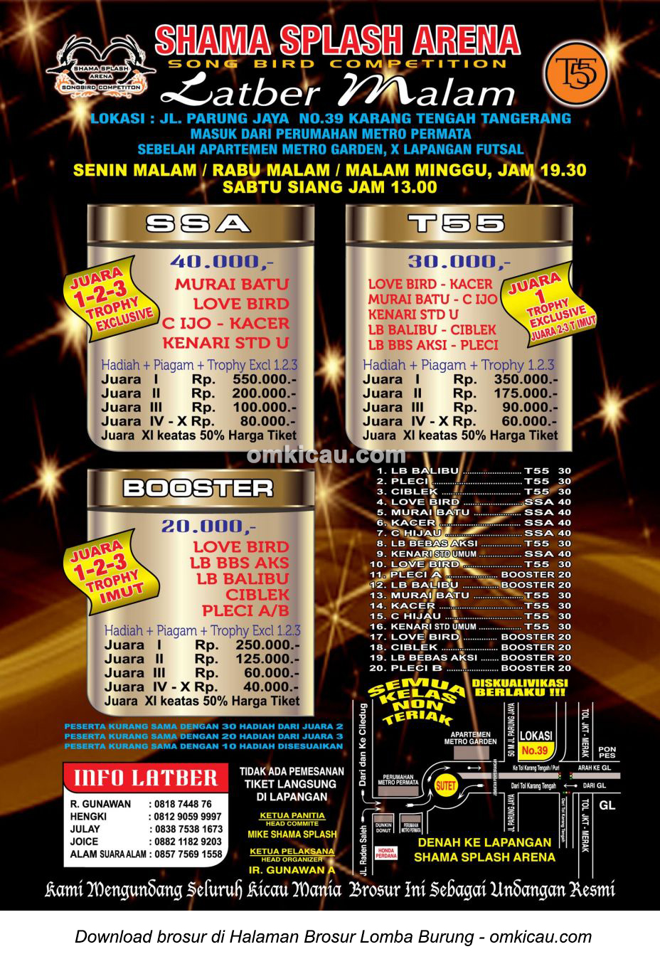 Brosur Latber Shama Splash Arena Tangerang