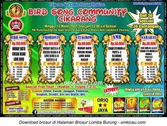 Brosur Latpres BnR 36G Bird Song Community, Cikarang, 12 Maret 2017