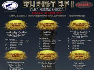 Lomba burung berkicau Bali Shanti Cup II