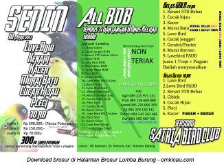 Brosur Latber Satria Bird Club Tersono, Batang, 10 April 2017