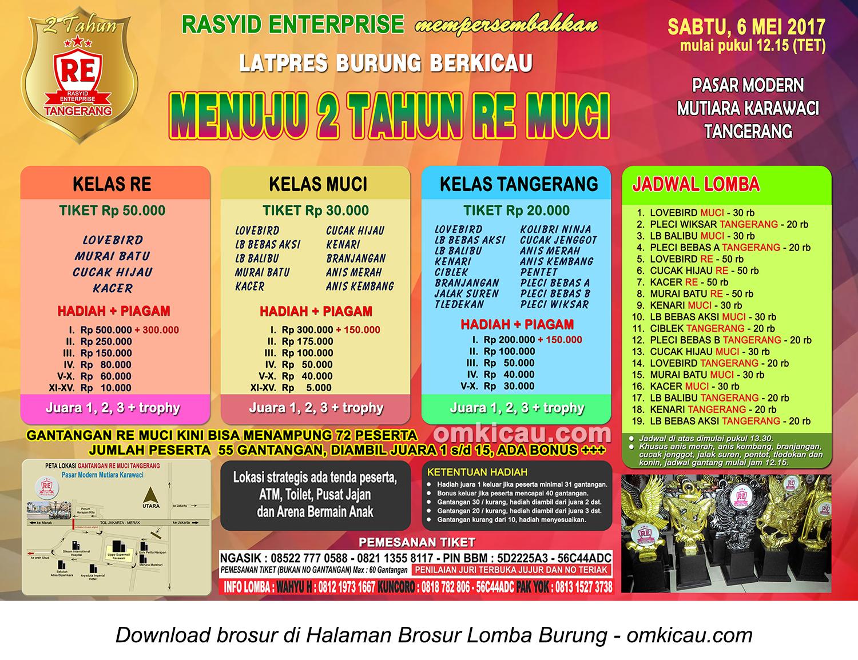 Brosur Latpres Menuju 2 Tahun RE Muci, Tangerang, 6 Mei 2017