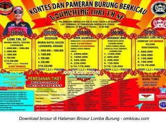 Brosur Lomba Burung Berkicau Launching Lori TM SF, Indralaya, 21 Mei 2017
