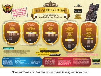 Brosur Lomba Burung Berkicau The Queen Cup, Jogja, 30 April 2017