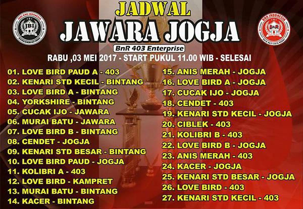 Jadwal Jawara Jogja