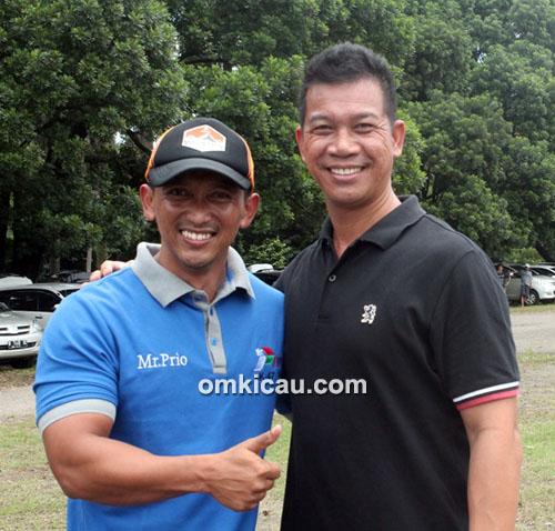 Om Priyo (kiri) dan Om Sofyan Juandi
