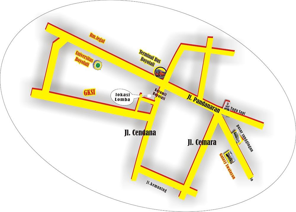 Denah lokasi lomba Winong Cup 1 Boyolali
