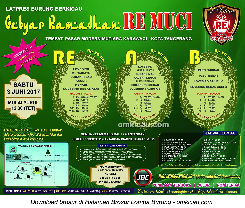 Brosur Latpres Gebyar Ramadhan RE Muci, Tangerang, 3 Juni 2017