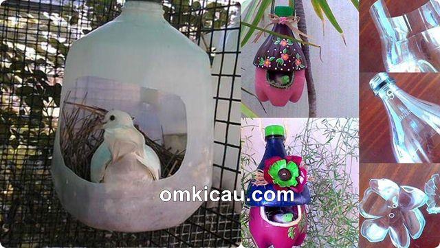 Membuat tempat sarang cantik dari botol bekas