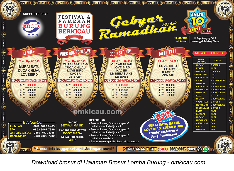 Brosur Latpres Gebyar Ramadhan Limus BC, Bogor, 10 Juni 2017