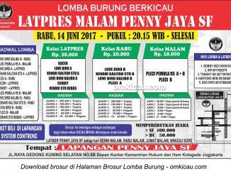 Brosur Latpres Malam Penny Jaya SF, Jogja, 14 Juni 2017