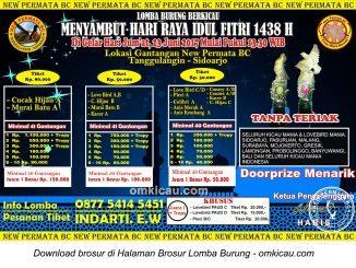Brosur Latpres New Permata BC Menyambut Hari Raya Idul Fitri 1438 H, Sidoarjo, 23 Juni 2017