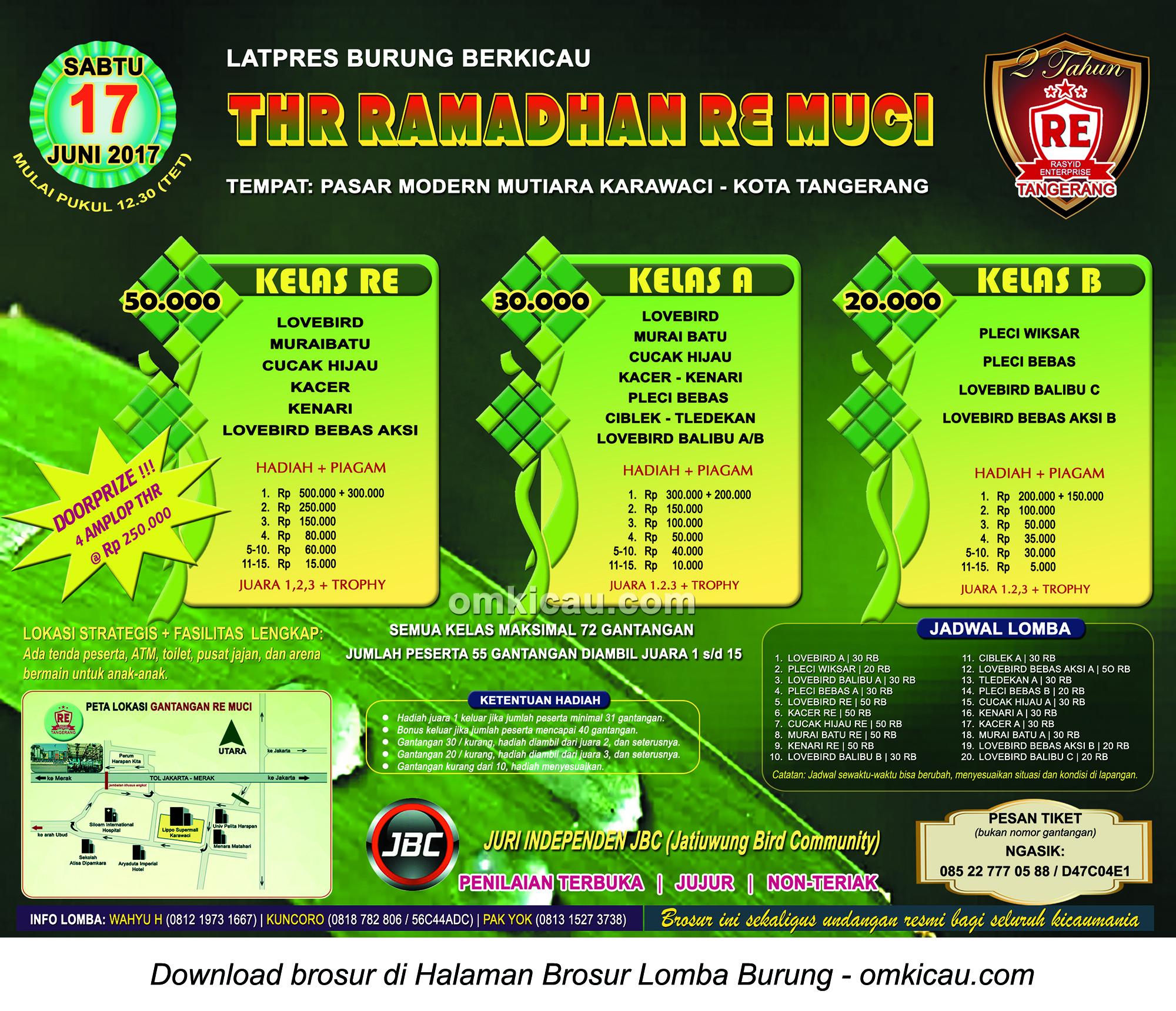 Brosur Latpres THR Ramadhan RE Muci, Tangerang, 17 Juni 2017