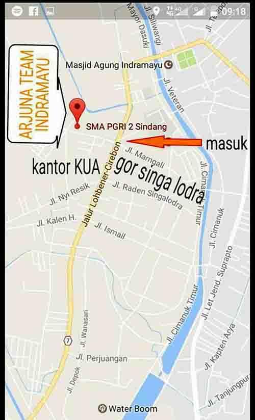 Lokasi Gantangan Arjuna Team Indramayu