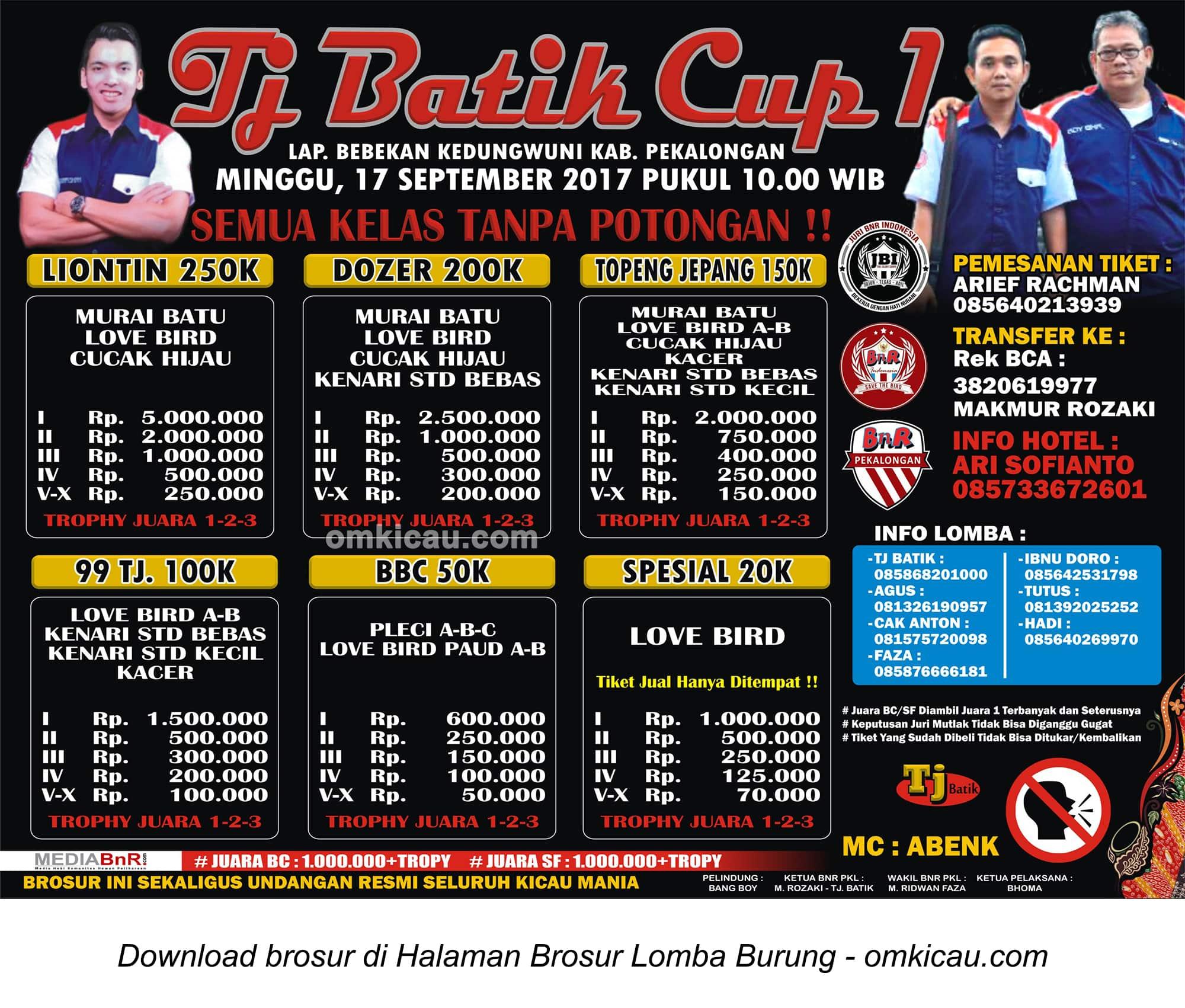 brosur tj batik cup 1