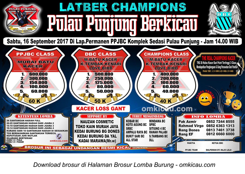Latber Champions Pulau Punjung Berkicau