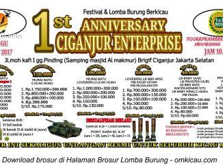 1st Anniversary Ciganjur Enterprise