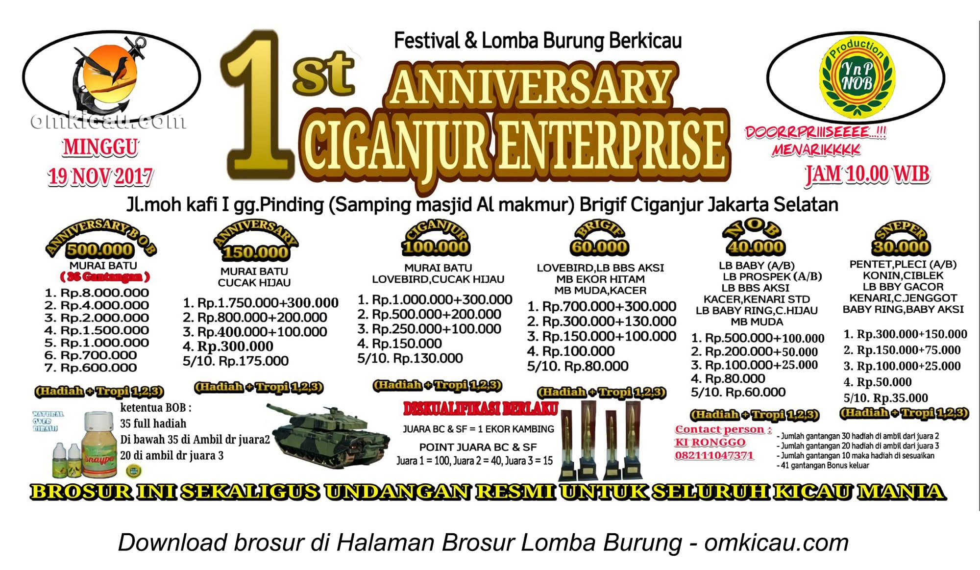 1st Anniversary Ciganjur Enterprise