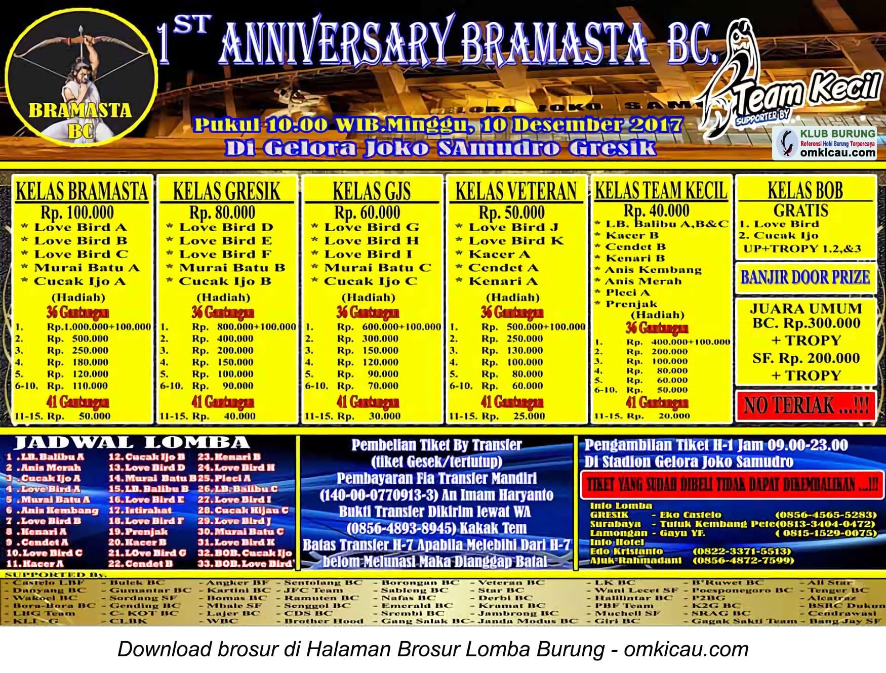 1at Anniversary Bramasta BC