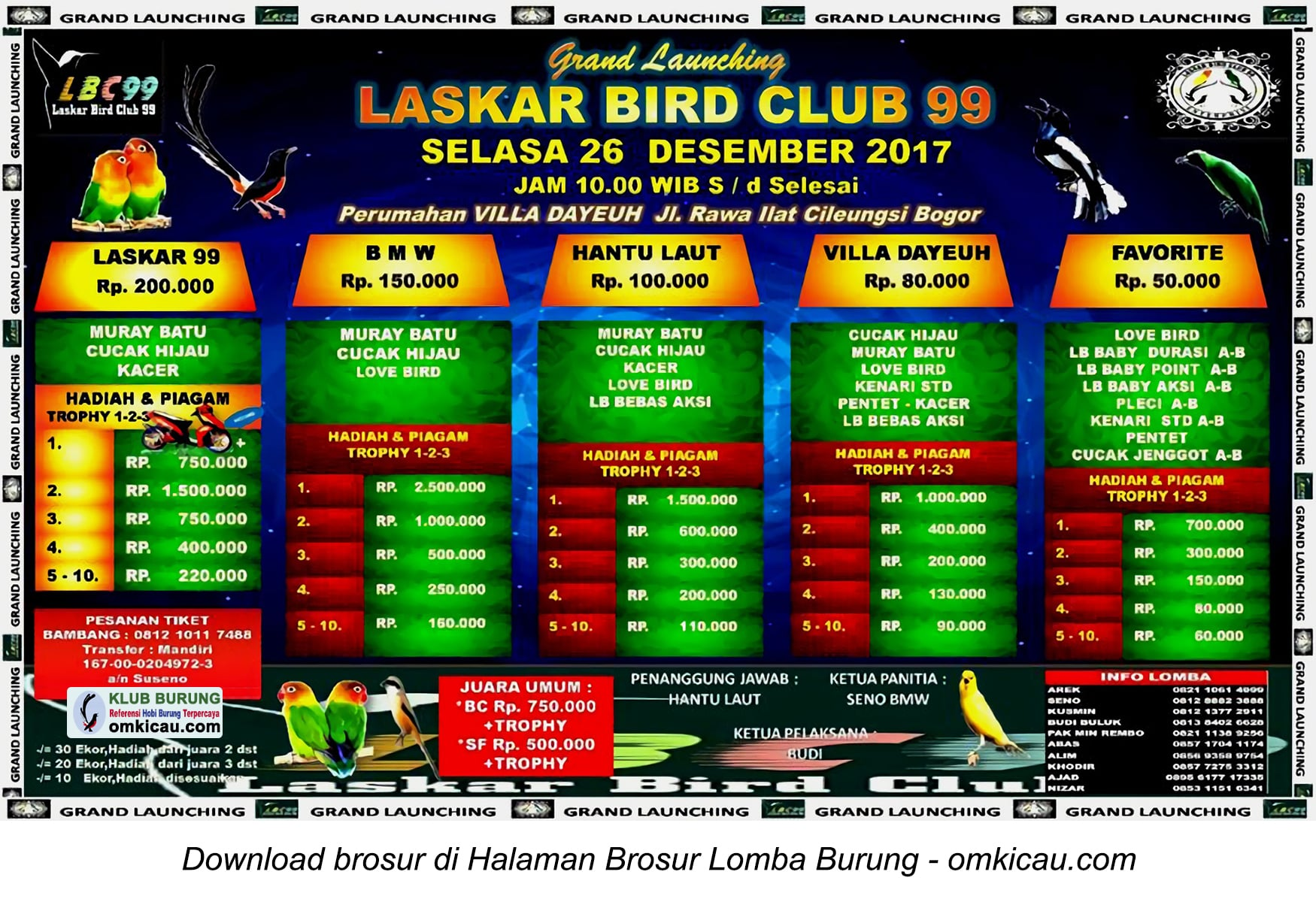 Laskar Bird Club 99