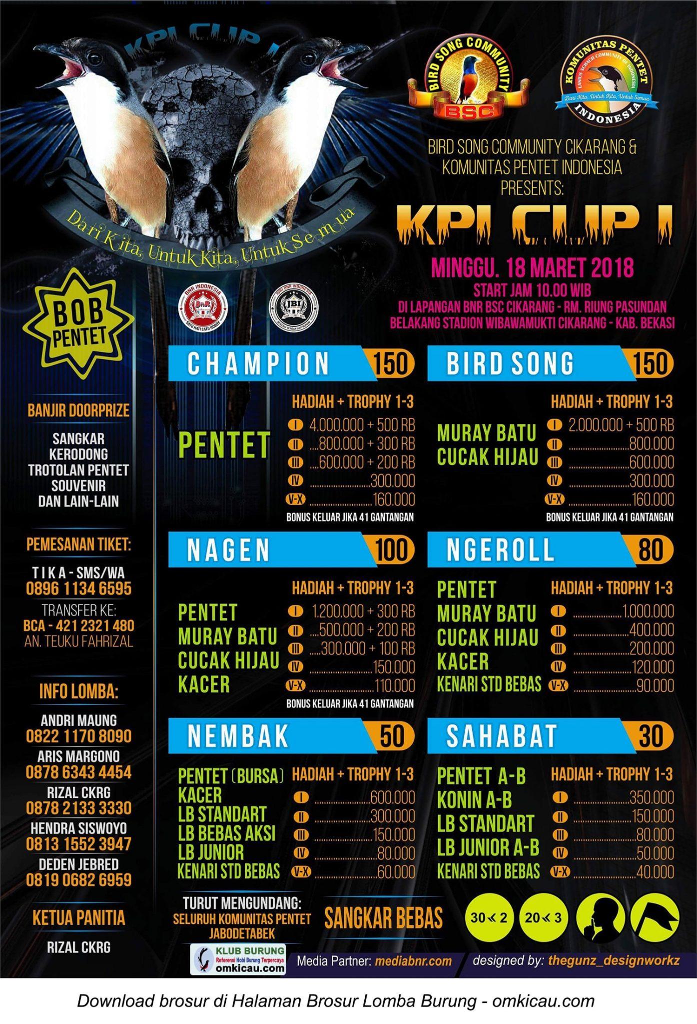 Kpi Cup I Di Bekasi 18 3 Kelas Utama Pentet Berhadiah