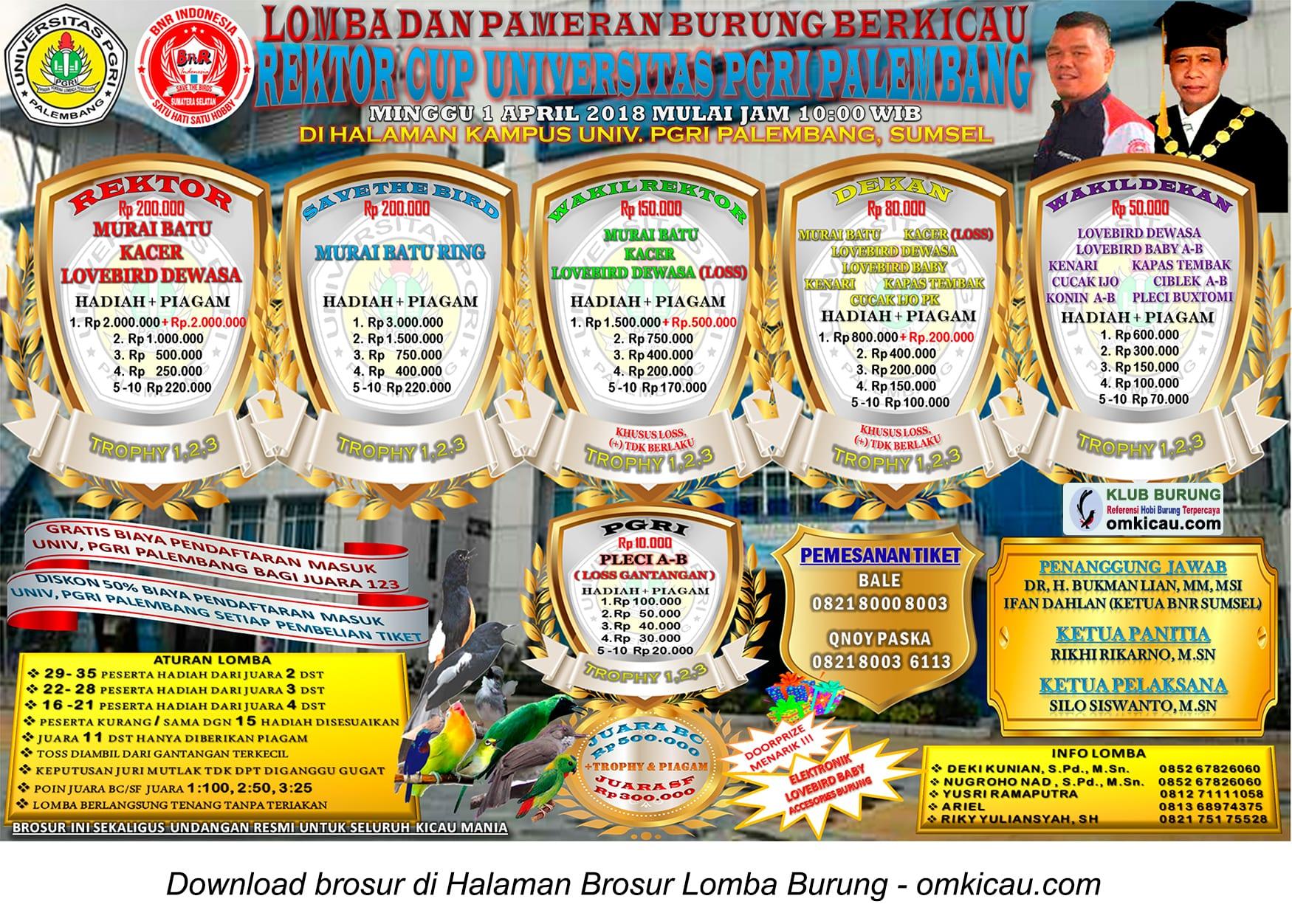 Rektor Cup Universitas PGRI Palembang