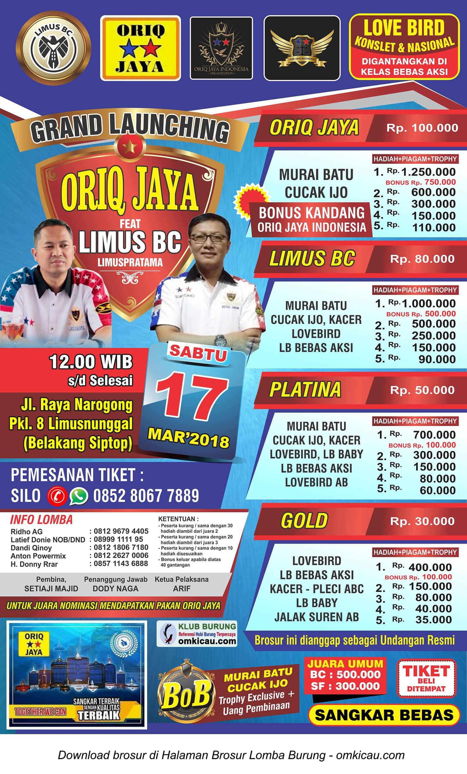 Grand Launching Oriq Jaya feat Limus BC