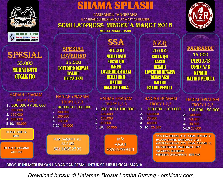 Semi Latpres Shama Splash