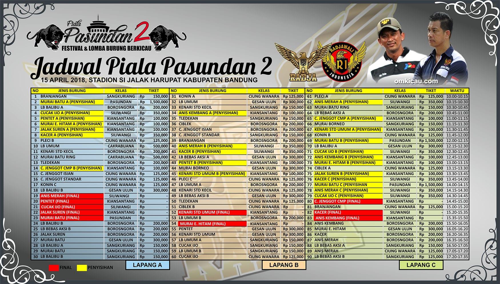 Jadwal Lomba Piala Pasundan 2