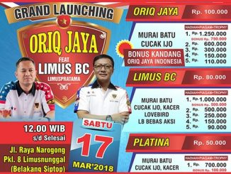 Grand Launching Oriq Jaya feat Limus BC